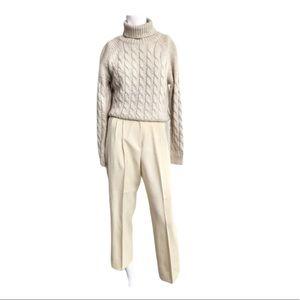 Vintage high waisted wool pants